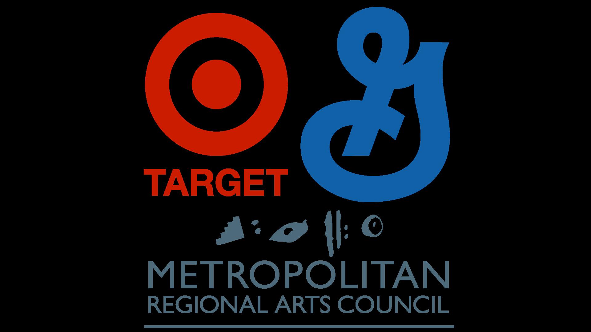 Logos of Target, General Mills, and Metropolitan Regional Arts Council
